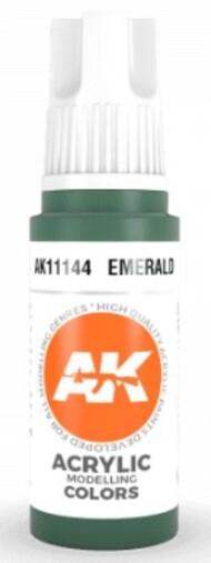 AK Interactive  AK Acrylics Emerald Acrylic Paint 17ml Bottle AKI11144