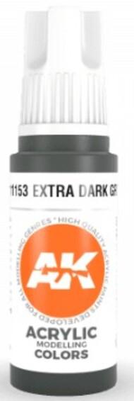 AK Interactive  AK Acrylics Extra Dark Green Acrylic Paint 17ml Bottle AKI11153