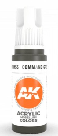 AK Interactive  AK Acrylics Command Green Acrylic Paint 17ml Bottle AKI11155