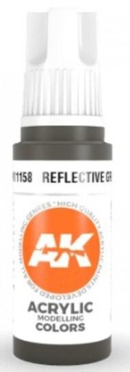 AK Interactive  AK Acrylics Reflective Green Acrylic Paint 17ml Bottle AKI11158