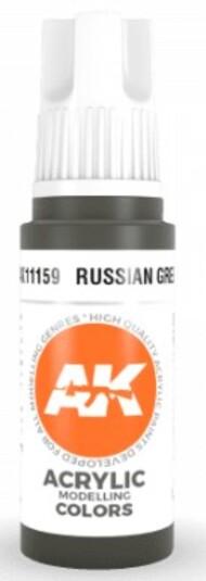 AK Interactive  AK Acrylics Russian Green Acrylic Paint 17ml Bottle AKI11159