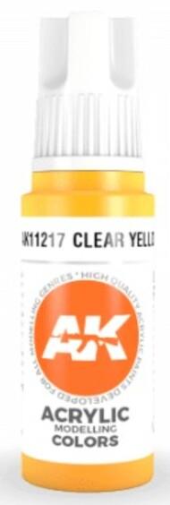 AK Interactive  AK Acrylics Clear Yellow Acrylic Paint 17ml Bottle AKI11217