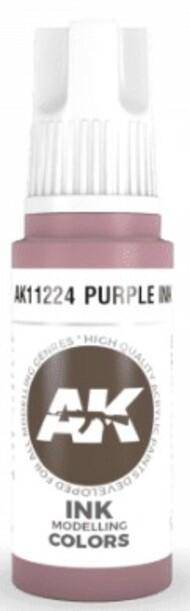 AK Interactive  AK Acrylics Purple Ink Acrylic Paint 17ml Bottle AKI11224