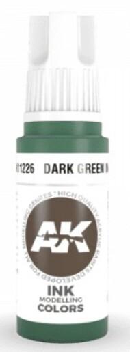 AK Interactive  AK Acrylics Dark Green Ink Acrylic Paint 17ml Bottle AKI11226