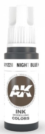AK Interactive  AK Acrylics Night Blue Ink Acrylic Paint 17ml Bottle AKI11228