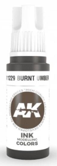 AK Interactive  AK Acrylics Burnt Umber Ink Acrylic Paint 17ml Bottle AKI11229