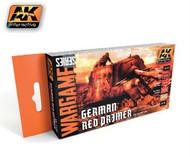AK Interactive  AK Wargame Wargame Series: German Red Primer Acrylic Paint Set (6 Colors) 17ml Bottles (D)<!-- _Disc_ --> AKI1124