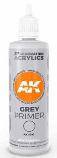 AK Interactive   N/A Grey Acrylic Primer 100ml Bottle AKI11241