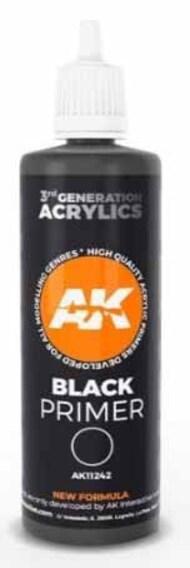 AK Interactive   N/A Black Acrylic Primer 100ml Bottle AKI11242