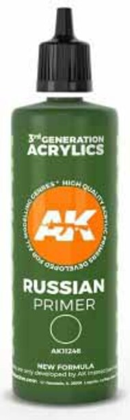 Russian Green Acrylic Primer 100ml Bottle #AKI11246