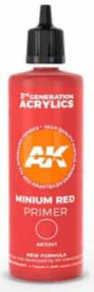 Minium Red Acrylic Primer 100ml Bottle #AKI11247