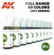 AFV Series: French Army Grey Blue Acrylic Paint 17ml Bottle #AKI11365