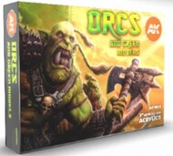 Orcs & Green Models Acrylic Paint Set (6 Colors) 17ml Bottles #AKI11600