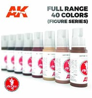 Non-Metallic Metal Steel Acrylic Paint Set (6 Colors) 17ml Bottles #AKI11601