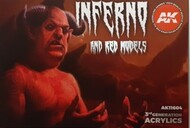 Inferno & Red Creatures Acrylic Paint Set (6 Colors) 17ml Bottles #AKI11604