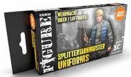 Figures Series: Splinter Pattern Uniforms Acrylic Paint Set (6 Colors) 17ml Bottles #AKI11624
