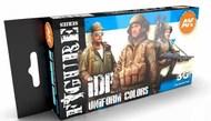 Figures Series: IDF Uniforms Acrylic Paint Set (6 Colors) 17ml Bottles #AKI11631