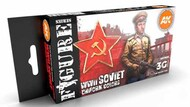 Figures Series: WWII Soviet Uniforms Acrylic Paint Set (6 Colors) 17ml Bottles #AKI11635