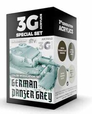 Modulation Series: German Panzer Grey Acrylic Paint Set (4 Colors) 17ml Bottles #AKI11642