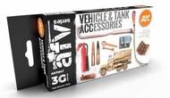AK Interactive   AKI AFV Series AFV Series: Tank Accessories Acrylic Paint Set (6 Colors) 17ml Bottles AKI11647