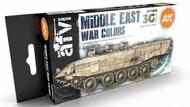 AFV Series: Middle East War Acrylic Paint Set (6 Colors) 17ml Bottles #AKI11648
