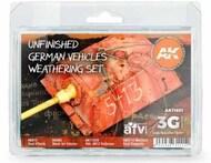 AFV Series: Unfinished German Vehicles Weathering Set (4 Colors, 2 Pencils) 17ml/35 Bottles #AKI11651