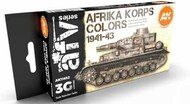AFV Series: Afrika Korps Acrylic Paint Set (6 Colors) 17ml Bottles #AKI11652