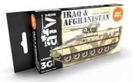 AFV Series: Iraq & Afghanistan Acrylic Paint Set (6 Colors) 17ml Bottles #AKI11655