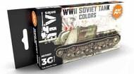 AFV Series: Soviet Camouflages Acrylic Paint Set (6 Colors) 17ml Bottles #AKI11657