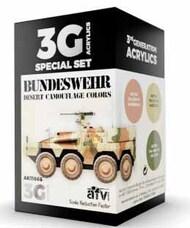 AFV Series: Bundeswehr Desert Acrylic Paint Set (3 Colors) 17ml Bottles #AKI11666