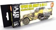 AFV Series: US Army & USMC Camouflage Acrylic Paint Set (6 Colors) 17ml Bottles #AKI11668