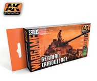 AK Interactive  AK Wargame Wargame Series: German Camouflage Acrylic Paint Set (6 Colors) 17ml Bottles AKI1167