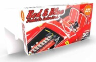 Cars & Civil Vehicles Series: Red & Blue Interior Acrylic Paint Set (6 Colors) 17ml Bottles #AKI11685
