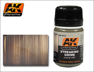 AK Interactive  AK Grime Streaking Grime Enamel Paint 35ml Bottle AKI12