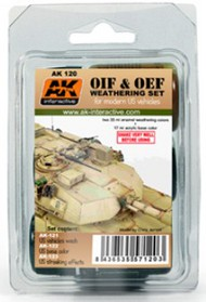 AK Interactive  AK Enamel OIF & OEF Modern US Vehicles Acrylic/Enamel Paint Set (121, 122, 123) AKI120