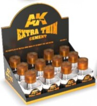 AK Interactive   N/A Extra Thin Cement 40ml Bottles AKI12011