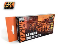 AK Interactive  AK Wargame Wargame Series: German Dunkelgelb Acrylic Paint Set (6 Colors) 17ml Bottles AKI1552