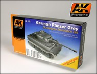 AK Interactive  AK Acrylic German Panzer Grey Modulation Acrylic Paint (6 Colors) 17ml Bottles AKI160
