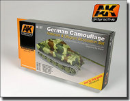 AK Interactive  AK Acrylic German Camouflage Green & Brown Modulation Acrylic Paint (6 Colors) 17ml Bottles AKI167
