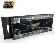 AK Interactive  AK Air Series Air Series: Luftwaffe Camouflages Vol.1 Acrylic Paint Set (8 Colors) 17ml Bottles AKI2001