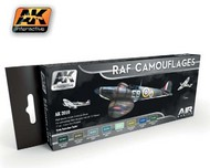 AK Interactive  AK Air Series Air Series: RAF Camouflages Acrylic Paint Set (8 Colors) 17ml Bottles AKI2010