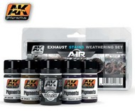 AK Interactive  AK Air Series Air Series: Exhaust Stains Weathering Set (5 Colors) 35ml Bottles AKI2037