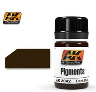 AK Interactive  AK Air Series Air Series: Dark Rust Pigment 35ml Bottle AKI2042