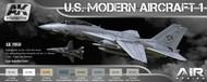 AK Interactive  AK Air Series Air Series: US Modern Aircraft 1 Colors Acrylic Paint Set (8 Colors) 17ml Bottles AKI2050