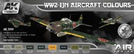 AK Interactive  AK Air Series Air Series: WWII IJN Aircraft Colors Acrylic Paint Set (8 Colors) 17ml Bottles AKI2060