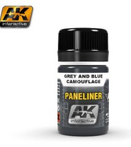 AK Interactive  AK Air Series Air Series: Panel Liner Grey & Blue Camouflage Enamel Paint 35ml Bottle AKI2072