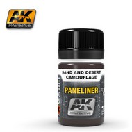 AK Interactive  AK Air Series Air Series: Panel Liner Sand & Desert Camouflage Enamel Paint 35ml Bottle AKI2073