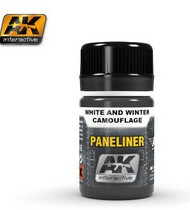 AK Interactive  AK Air Series Air Series: Panel Liner White & Winter Camouflage Enamel Paint 35ml Bottle AKI2074