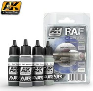 AK Interactive  AK Air Series Air Series: RAF Day Fighter Scheme Acrylic Paint Set (4 Colors) 17ml Bottles AKI2080