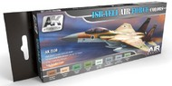 AK Interactive  AK Air Series Air Series: Israeli Air Force Acrylic Paint Set (8 Colors) 17ml Bottles AKI2150